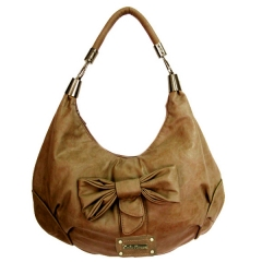 Bolso mujer lazo color taupe