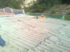 Faldón de madera desescombrado