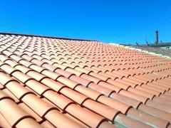Detalle de tejado terminado