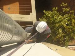 Colocación de bajantes y salidas de humo en Tarragona