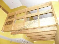 Forjado de madera en un d�plex