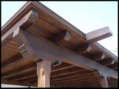 Pergola de madera. www.pergolaslanzarote.com