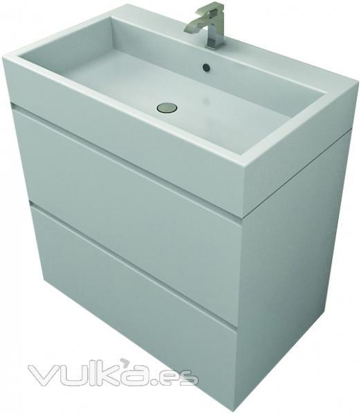Muebles De Baño Karol:Mueble de baño en laca blanca Matt & Co en Linea Baño