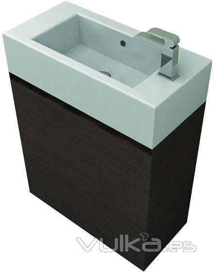 Muebles De Baño Karol:SOLO 25 cm de profundidad para este mueble de baño