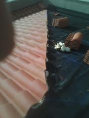 Impermeabilizacion de tejado y colocacion de teja