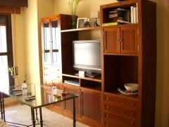Mueble de tv a medida en cerezo.