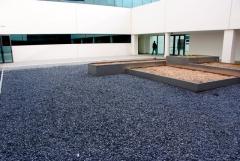 Marmolinas negras para patios, jardines, cubiertas