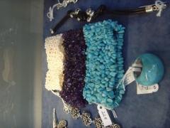 Sortija turquesa brazalete perlas