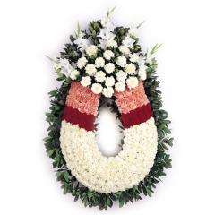 Arreglos funerarios. flores para funerales. corona de flores.