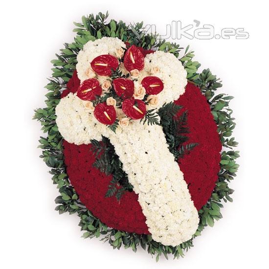 Arreglos funerarios y coronas funebres flores para auto - Coronas de flore ...