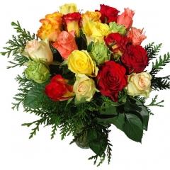 Regala rosas a domicilio. bouquet de rosas multicolor para enviar flores online.