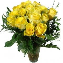 Regala rosas a domicilio. bouquet de rosas amarillas para enviar flores online.