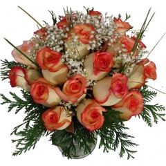 Regala rosas a domicilio. bouquet de rosas bicolor y paniculata para enviar flores online.