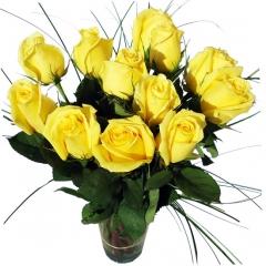 Regala rosas a domicilio. ramo de rosas amarillas para enviar flores online.