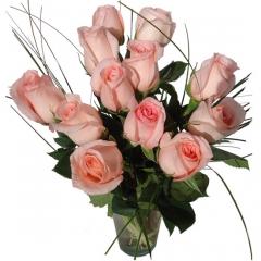 Regala rosas a domicilio. ramo de rosas rosas para enviar flores online.