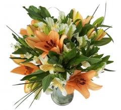 Ramo de liliums y alstroemerias. enviar y regalar flores a domicilio con la mejor florister�a online