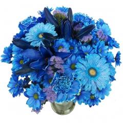 Ramo de flores azules.  enviar y regalar flores a domicilio con la mejor floristería online.