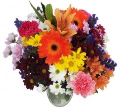 Ramo de flor variada tonos multicolo. enviar y regalar flores a domicilio con la mejor florister�a.