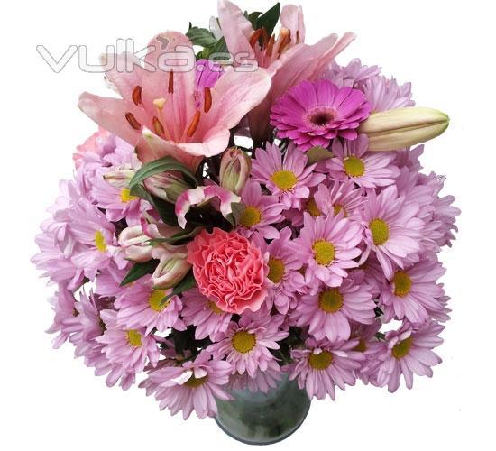 Ramo de flor variada tonos rosas. Enviar y regalar flores a domicilio con la mejor florister�a.
