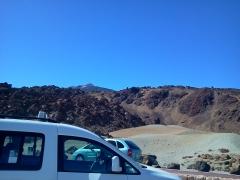 Vista de la piedra pomez desde las minas de san josé en el parque nacional de las cañadas del teide.