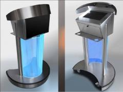 Ejemplo de los diferentes modelos de atriles con iluminaci�n.