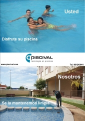 Piscival: Usted disfrute su piscina, Piscival  la mantiene limpia