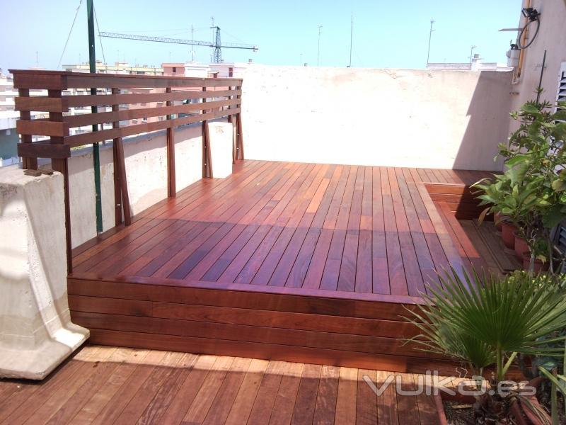 Foto Suelo Y Barandilla De Tarima Exterior Ipe Acabada Con Aceite Bona Carl S Direct