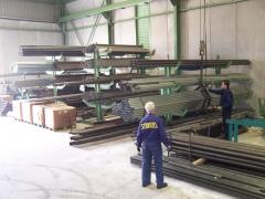 Almac�n de tubos, diversas dimensiones en a. carbono, a. zincado, pvc, inoxidable, aluminio...