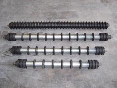 Rodillos engomados para cintas transportadoras: limpiadores helicoidales, limpiadores ovales, amorti