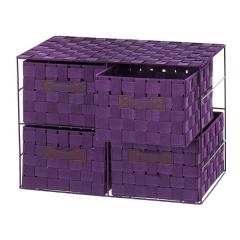 Mueble auxiliar. cajonera entretela lila 4 cajones 33 en la llimona home (1)