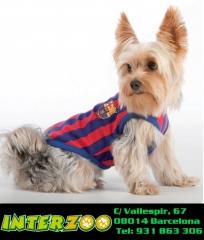Ropa y complementos para perros del Futbol Club Barcelona
