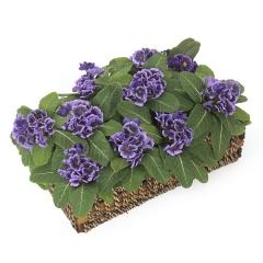 Plantas artificiales con flores. planta primula artificial violeta en la llimona home (2)