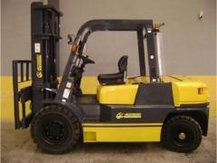 Carretilla di�sel euroyen mod.: fd50, capacidad de carga: 5000 kgs. m�stil simple, altura de elevaci