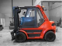 Carretilla di�sel linde, modelo h50d, ruedas neum�ticas, transmisi�n autom�tica, capacidad de carga: