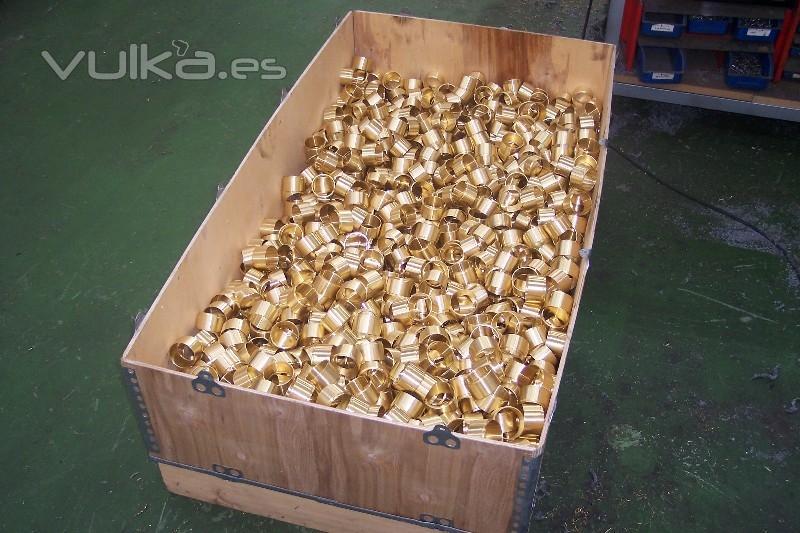 Casquillos de bronce fabricados por encargo