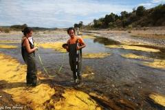 Trabajos de estudio de geomorfolog�a fluvial en campo.