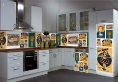 Dise�o de carteles antiguos de publicidad de la colecci�n Carlos Velasco para imanes o vinilos