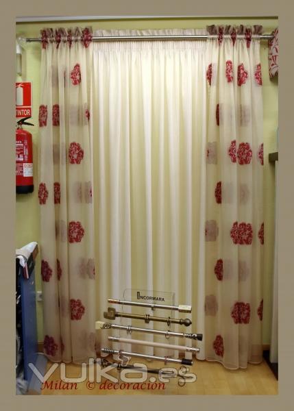 Visillos Para Dormitorios Juveniles. Beautiful Top Finel Bordado