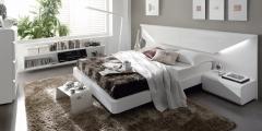 Dormitorio moderno con leds