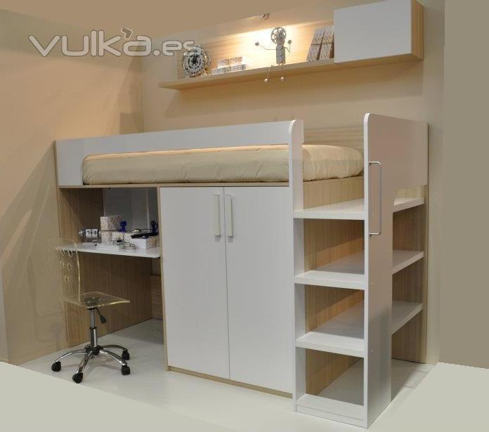 Mobles vilanova lleida - Litera con escritorio debajo ...
