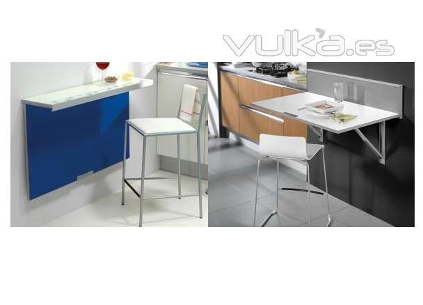 Foto mesa cocina para espacios peque os for Mesas ordenador para espacios pequenos