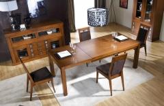Mesa comedor y buffet en madera