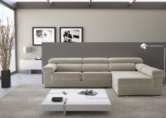 Sofa chaiselong en color blanco