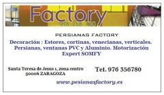 Tarjeta persianas factory