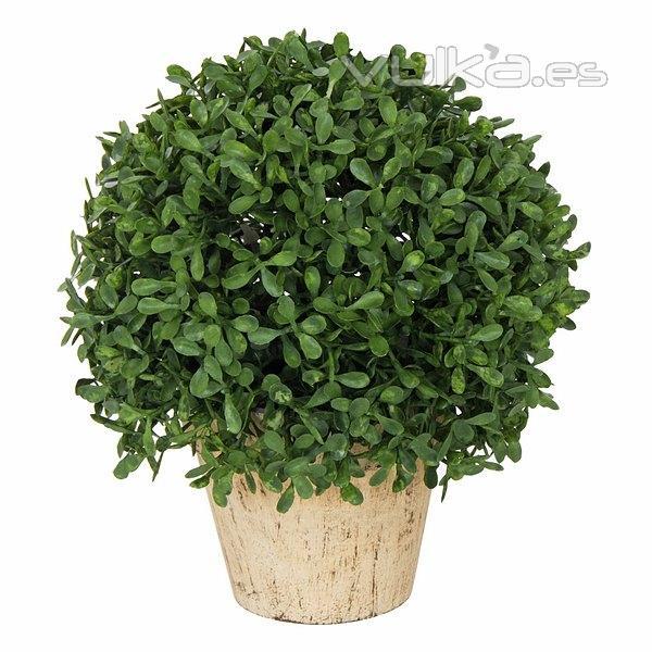 Foto plantas artificiales planta bola artificial hojas for Macetas plantas exterior