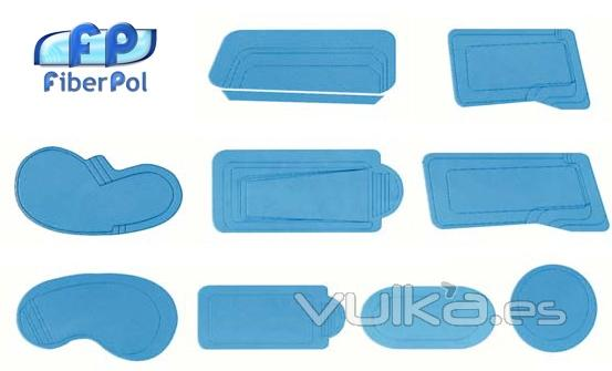 Foto fabricaci n y suministro de piscinas de fibra en kit for Suministros para piscinas