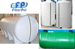 Productos de fibra y poli�ster, depositos cil�ndricos, cubiertas, laminados y recubrimientos, piezas
