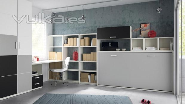Foto habitacion juvenil con cama abatible del catalogo slango - Habitacion juvenil cama abatible ...
