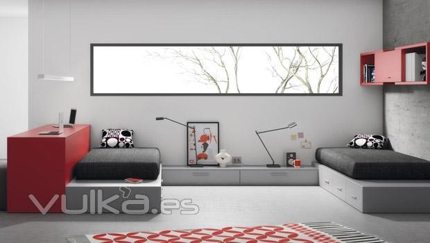 Foto habitacion juvenil doble del catalogo de muebles slango - Habitacion juvenil doble ...