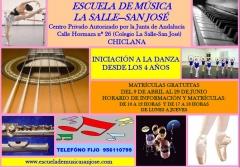Flyer publicitario curso 2012-2013 escuela de música la salle san josé de chiclana